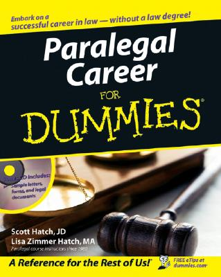 Paralegal Career for Dummies By Hatch, Scott A./ Hatch, Lisa Zimmer